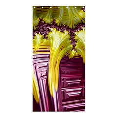 Yellow Magenta Abstract Fractal Shower Curtain 36  X 72  (stall)