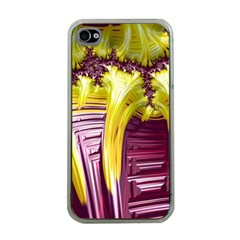 Yellow Magenta Abstract Fractal Apple Iphone 4 Case (clear)
