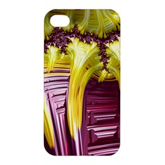 Yellow Magenta Abstract Fractal Apple Iphone 4/4s Hardshell Case