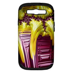 Yellow Magenta Abstract Fractal Samsung Galaxy S Iii Hardshell Case (pc+silicone)