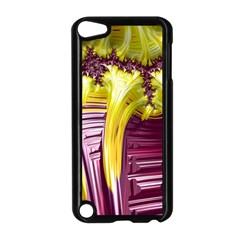 Yellow Magenta Abstract Fractal Apple Ipod Touch 5 Case (black)