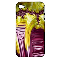Yellow Magenta Abstract Fractal Apple Iphone 4/4s Hardshell Case (pc+silicone)