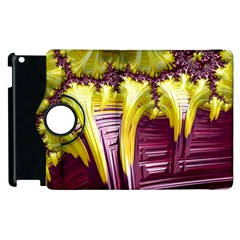 Yellow Magenta Abstract Fractal Apple Ipad 3/4 Flip 360 Case