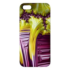 Yellow Magenta Abstract Fractal Apple Iphone 5 Premium Hardshell Case