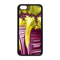 Yellow Magenta Abstract Fractal Apple Iphone 5c Seamless Case (black)