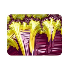 Yellow Magenta Abstract Fractal Double Sided Flano Blanket (mini)