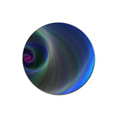 Gloom Background Abstract Dim Rubber Coaster (round)