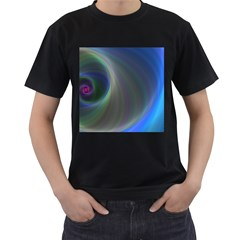 Gloom Background Abstract Dim Men s T Shirt (black) (two Sided)