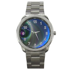 Gloom Background Abstract Dim Sport Metal Watch