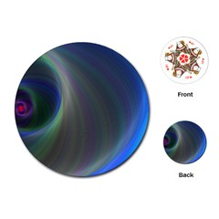Gloom Background Abstract Dim Playing Cards (round)