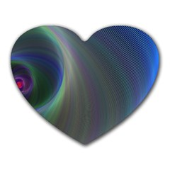 Gloom Background Abstract Dim Heart Mousepads