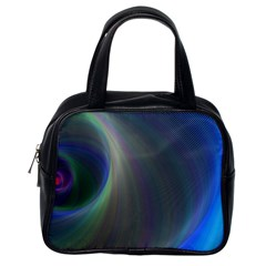 Gloom Background Abstract Dim Classic Handbags (one Side)