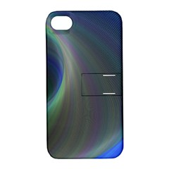 Gloom Background Abstract Dim Apple Iphone 4/4s Hardshell Case With Stand