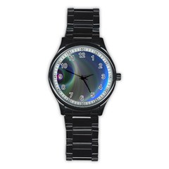 Gloom Background Abstract Dim Stainless Steel Round Watch