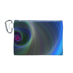 Gloom Background Abstract Dim Canvas Cosmetic Bag (m)