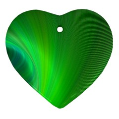 Green Background Abstract Color Ornament (heart)