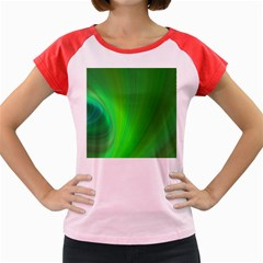 Green Background Abstract Color Women s Cap Sleeve T Shirt