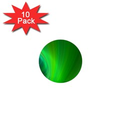 Green Background Abstract Color 1  Mini Buttons (10 Pack)