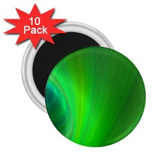 Green Background Abstract Color 2 25  Magnets (10 Pack)