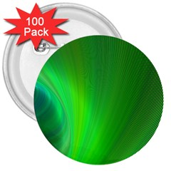Green Background Abstract Color 3  Buttons (100 Pack)