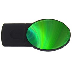 Green Background Abstract Color Usb Flash Drive Oval (2 Gb)