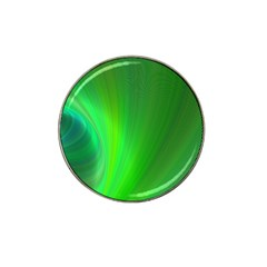 Green Background Abstract Color Hat Clip Ball Marker (10 Pack)