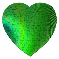 Green Background Abstract Color Jigsaw Puzzle (heart)
