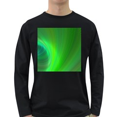 Green Background Abstract Color Long Sleeve Dark T Shirts