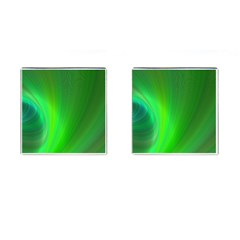 Green Background Abstract Color Cufflinks (square)