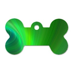 Green Background Abstract Color Dog Tag Bone (one Side)