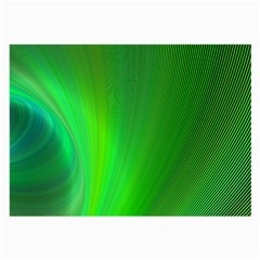 Green Background Abstract Color Large Glasses Cloth (2 Side)