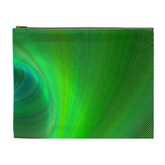 Green Background Abstract Color Cosmetic Bag (xl)