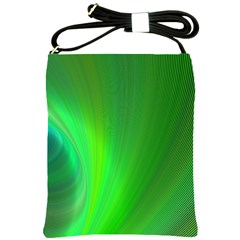 Green Background Abstract Color Shoulder Sling Bags