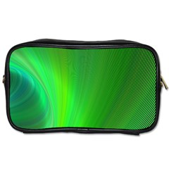 Green Background Abstract Color Toiletries Bags