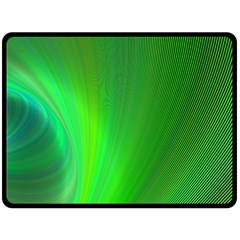 Green Background Abstract Color Fleece Blanket (large)