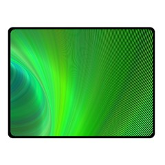Green Background Abstract Color Fleece Blanket (small)