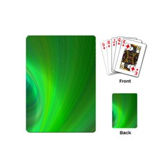 Green Background Abstract Color Playing Cards (mini)