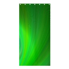 Green Background Abstract Color Shower Curtain 36  X 72  (stall)
