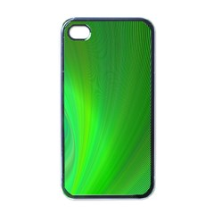Green Background Abstract Color Apple Iphone 4 Case (black)