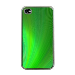 Green Background Abstract Color Apple Iphone 4 Case (clear)