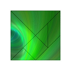 Green Background Abstract Color Acrylic Tangram Puzzle (4  X 4 )