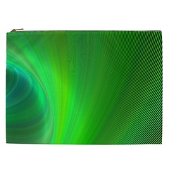 Green Background Abstract Color Cosmetic Bag (xxl)