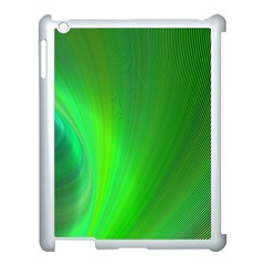 Green Background Abstract Color Apple Ipad 3/4 Case (white)