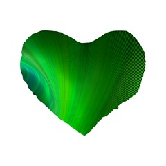 Green Background Abstract Color Standard 16  Premium Heart Shape Cushions