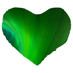 Green Background Abstract Color Large 19  Premium Heart Shape Cushions
