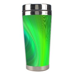 Green Background Abstract Color Stainless Steel Travel Tumblers