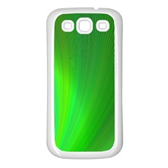 Green Background Abstract Color Samsung Galaxy S3 Back Case (white)