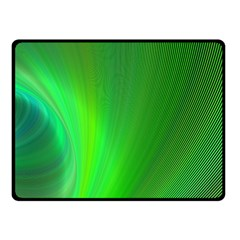 Green Background Abstract Color Double Sided Fleece Blanket (small)