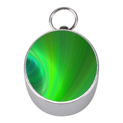 Green Background Abstract Color Mini Silver Compasses