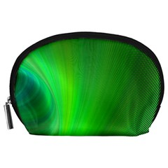 Green Background Abstract Color Accessory Pouches (large)